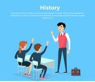 Assunto da bandeira conceptual da educação da história Fotos de Stock