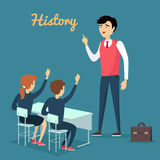 Assunto da bandeira conceptual da educação da história ilustração stock