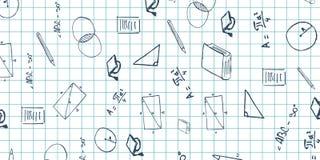 Assunto da geometria De volta ao fundo da escola (EPS+JPG) Bandeira da educação Fotos de Stock Royalty Free