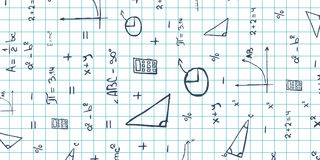 Assunto da matemática De volta ao fundo da escola (EPS+JPG) Bandeira da educação Foto de Stock