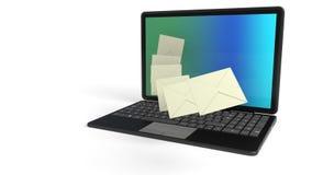 Assunto do correio do Internet, rendição 3d Imagem de Stock