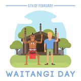 Assunto do dia de Nova Zelândia Waitangi Imagens de Stock