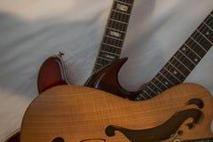 Assuré trois guitares Photos stock