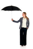 Assurance agent umbrella Royalty Free Stock Image
