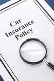 Assurance auto Image libre de droits