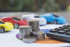 Assurance auto et service de voiture Assurance auto, affaires et finan Photo libre de droits