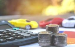 Assurance auto et service de voiture Assurance auto, affaires et finan Images stock