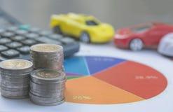 Assurance auto et service de voiture Assurance auto, affaires et finan Photos stock