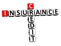 assurance-crédit Word de mots croisé du rendu 3D au-dessus de Backgrou blanc illustration libre de droits