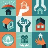 Assurance de maison de vecteur illustration stock