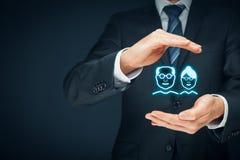 Assurance et aînés de pension photos stock