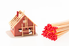 Assurance-incendie incendie Image stock
