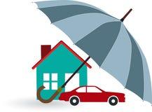 Nuage et parapluie de pluie photo libre de droits image for Assurance de la maison