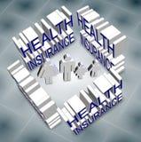 Assurance médicale maladie de famille Photo stock