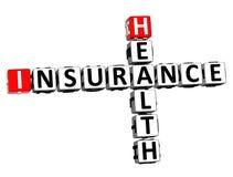 assurance médicale maladie de mots croisé du rendu 3D Word au-dessus de Backgrou blanc illustration stock