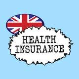 Assurance médicale maladie des textes d'écriture de Word Concept d'affaires pour la couverture qui paye des dépenses médicales et illustration libre de droits