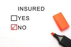 Assurance ou risque Photographie stock libre de droits