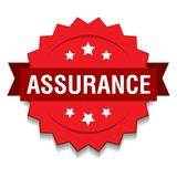 Assurance seal. Vector illustration of assurance seal red star on isolated white background royalty free illustration