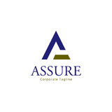 Assure Logo Template. Clean background for every presentation, high resolution, perfect detail work. Logo Template, can be customized in the EPS file. free font Royalty Free Stock Photos