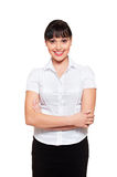 Assured friendly woman Royalty Free Stock Photography