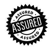 Assured rubber stamp. Grunge design with dust scratches. Effects can be easily removed for a clean, crisp look. Color is easily changed Royalty Free Stock Photo