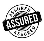 Assured rubber stamp. Grunge design with dust scratches. Effects can be easily removed for a clean, crisp look. Color is easily changed Royalty Free Stock Images