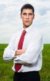 Assured serious businessman royalty free stock photos
