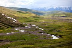 Assy plateau in Kazakstan Royalty Free Stock Photography