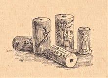 Assyrian cylinders royalty free illustration