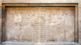 Assyrian's relief in The British Museum Stock Photo