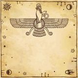 Assyrian winged god. Royalty Free Stock Images