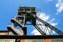 Asta cilindrica della miniera di carbone fotografie stock libere da diritti