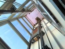 asta cilindrica di elevatore Immagini Stock