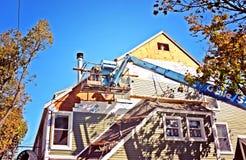 Asta Crane Building Construction Fotografia Stock Libera da Diritti
