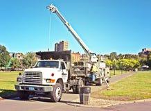Asta Crane Truck Construction Immagini Stock
