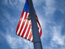Asta de bandera americana Fotos de archivo