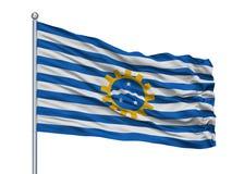 Asta de bandera de Jose Dos Campos City Flag On del sao, el Brasil, aislado en el fondo blanco stock de ilustración