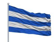 Asta de bandera de San Francisco De Sales City Flag On, Colombia, departamento de Cundinamarca, aislado en el fondo blanco stock de ilustración