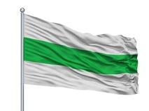 Asta de bandera de Santa Rosa De Cabal City Flag On, Colombia, departamento de Risaralda, aislado en el fondo blanco stock de ilustración