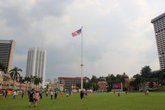 Asta della bandiera al quadrato di Merdeka Fotografia Stock Libera da Diritti