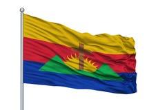 Asta della bandiera di Ocumare Del Tuy City Flag On, Venezuela, isolato su fondo bianco royalty illustrazione gratis