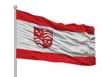 Asta della bandiera di Werther Westfalen City Flag On, Germania, isolata su fondo bianco illustrazione vettoriale