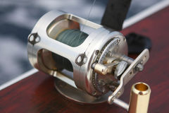 asta della bobina di pesca Fotografie Stock Libere da Diritti