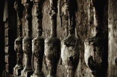 Asta della ringhiera (bas-relief), l'elemento architettonico fotografia stock libera da diritti
