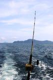 Asta di pesca immagine stock