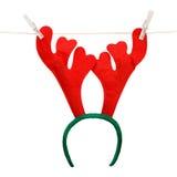 Asta divertida de la Navidad de un ciervo stock de ilustración