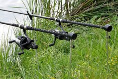 Asta e bobina di pesca Immagine Stock Libera da Diritti