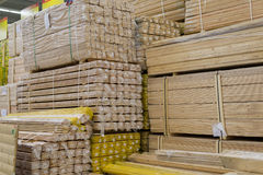 Astack of lumber in the store timber Stock Photos