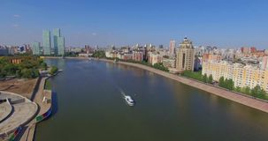 astana Река Ishim сток-видео