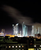 Astana. In winter night. photo Stock Photography